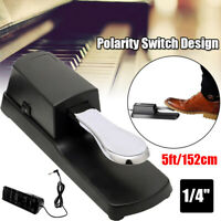 Universal Sustain Foot Pedal for Yamaha,Roland,Casio,Korg,Behringer w/ 1/4 Input