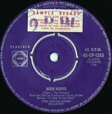 Jonah Jones Quartet ORIG OZ Promo 45 High hopes VG+ '59 Capitol CP1395 Jazz