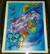 1992 USA Women's Basketball team signed print (20 autographs) Cynthia Cooper HOF