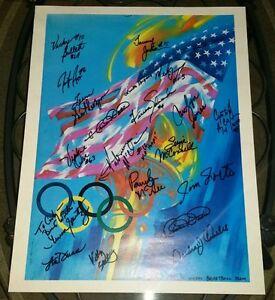 1992 USA Women's Basketball team signed print (20 autographs) Cynthia Cooper HOF