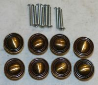 Allison 155 Vintage Drawer Knobs Lot (8) Brass Finish Taiwan