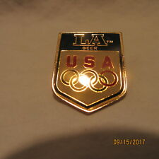 RARE L. A. BEER (LOW ALCOHOL) 1988 USA USOC OLYMPIC SPONSOR TAC PIN