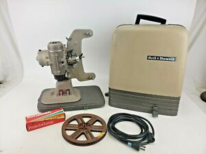 Vintage Bell & Howell Regent 122-L 8mm Movie Film Projector Case Bulb Cord