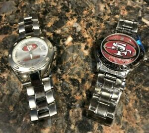 Set of 2 SAN FRANCISCO 49ERS Stainless Steel Wrist Watches