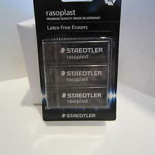 STAEDTLER 526 B209 Rasoplas Large BLACK EDITION Eraser Set of 3-latex Free