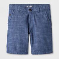 Cat & Jack Boy's Chino Shorts Blue (Denim Color) 4 7 12 16 NEW NWT