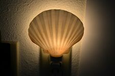 DEEP WHITE IRISH SCALLOP SEA SHELL NIGHT LIGHT BATHROOM KITCHEN #7348