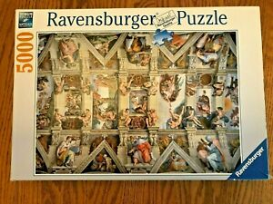"Ravensburger Puzzle 5000 Pieces Sistine Chapel Complete 60""x40"" - Same Day Ship!"