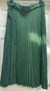 JD Williams Palmgreen Pleated Midi SkirtWith Belt. UK Size 14