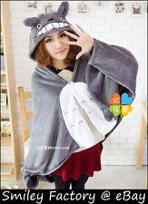 Hot New Cute Totoro Warm Plush Cosplay Hooded Shawl Cape Wrap Cloak Blanket Gift