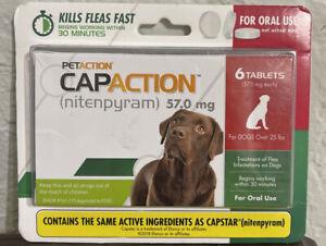 Pet Action CapAction Flea Treatment - 711650130006 6 Count Exp 2023