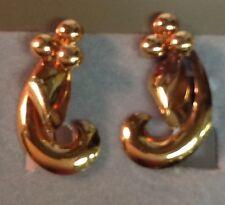 VINTAGE 1/20 12Kt GOLD FILLED ART DECO 3EARRINGS- SCREWBACKS BEAUTIFUL!