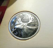 1956 PROOF LIKE PL CANADA Canadian .800 silver quarter 25 cents