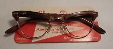 Vintage American Optical Showtime Mocha 44/22 12K G.F. Eyeglass Frame Nos #362
