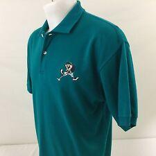 Warner Brothers Studio Store Golf Polo Shirt Taz Tazmanian Devil Cotton 1995 L