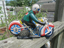 Old Original Tin Wind Up Toy Motorcycle 1960's MS-702 Very Rare used China made