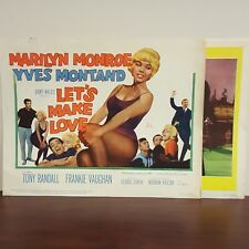 Lot of 2 Marilyn Monroe Let's Make Love 1960 Cinemascope Lobby Card
