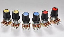 6x B500K 500K OHM Linear Taper  Potentiometers  POT w/ control knob USA