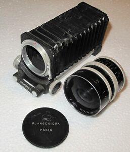 Exakta Camera Lens P. Angenieux Paris F. 35 F 2.5 Retrofocus Type R1 w/Novoflex