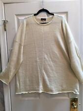 NWT Eskandar  Yellow Linen /Cotton   Knit Sweater- Oversized $1235.00 SALE