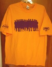 LOS ANGELES LAKERS tee XL basketball team silhouette Fox Sports West TV tee