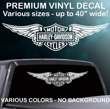 Harley-Davidson Winged Logo Premium Vinyl Decal - Various Colors & Sizes