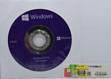 GENUINE Original WINDOWS 10 Pro Professional DVD & Product Key Sticker 64-bit