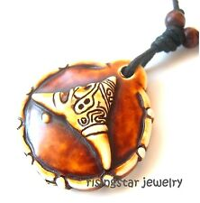Rare Taino Indians Culture Cemi GOD of Creation Embossed Pendant Necklace