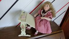 Collectable Artist Victorian porcelain doll Reflections of Rose by Linda Mason