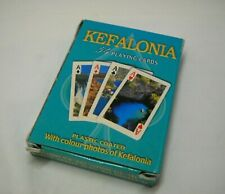 Vintage Deck of 54 Playing Cards with Pictures Greek Island Kefalonia