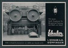 L. Schuler Göppingen Maschinenbau Riesenpresse Montan Eberspächer Esslingen 1940