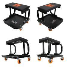 Rolling Mechanic Stool Work Seat Garage Shop Chair Onboard Tray Storage Car Auto