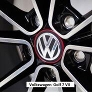 VW Volkswagen Transporter Red Chrome Center Wheel Caps Hub Caps Genuine New