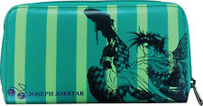 Jojo's Bizarre Adventures Joseph Joestar Green Checkbook Wallet NEW