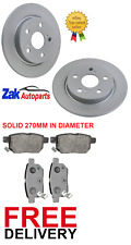 FOR TOYOTA AURIS 1.8 HYBRID MK2 VVTI(2012-2015) 2 REAR BRAKE DISCS & PADS SET