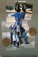 "VTG 1987 Art Print Repro David Hockney Photography Exhibit Poster 10.5"" x 14"""
