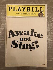 AWAKE AND SING! Apr 1984 Broadway Playbill! FRANCES MCDORMAND Harry Hamlin +!