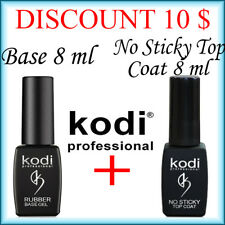 Kodi Professional Rubber Base 8 ml + No Sticky Top Coat 8 ml LED/UV DISCOUNT!!!