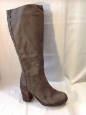 GEOX Brown Knee High Leather Boots Size 37.5