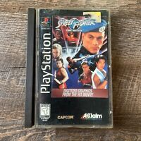 RARE Street Fighter The Movie PS1 PlayStation Original Long Box USA CIB Complete