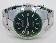 Rolex Milgauss 116400 Oyster Perpetual Green Crystal Watch *MINT CONDITION*