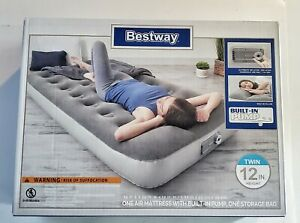 """Air Mattress of 12"""" with Built in AC Pump, Feel Comfort and very soft Twin Size"""