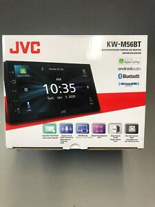"""JVC KW-M56BT 2 DIN 6.8"""" Media Player USB Mirroring Android iPhone Bluetooth"""