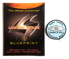 Original 1998 Lost in Space Movie Blueprint Set-2 Fold Out Sheets w Patch