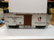 Bachmann G Scale Wood Side Box Car Rath Packing Co. #608