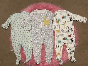 Next Baby Girl/boy Unisex 6-9 Months Safari Sleepsuits Set- 2 BNWOT 👫