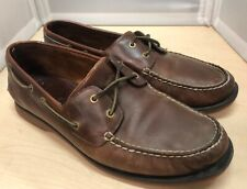 Clarks Men's Brown Leather Boat Deck Casual Shoes UK 10.5 #62E