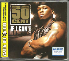 50 CENT If I can't w/ RARE LIVE TRX In Da Club & What up gangsta CD Single SEALE