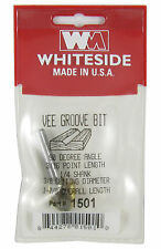 "Whiteside 1501 - V Groove Router Bit Carbide 1/4 x 1.8"" x 3/8 cut diameter 90 dg"