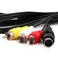 7pin S VIDEO A 3 RCA TV macho cable para portátil pc audio ordenador Conector